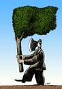 Cartoon: paradoxical flag (small) by Medi Belortaja tagged paradoxical,flag,tree,environment,ax
