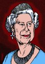 Cartoon: Queen Elisabeth (small) by Medi Belortaja tagged queen,elisabeth,uk,united,kingdom