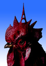Cartoon: roosters eiffel (small) by Medi Belortaja tagged rooster,roosters,eiffel,paris,france