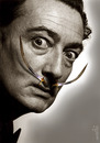 Cartoon: sharp mustache (small) by Medi Belortaja tagged sharp,mustache,dali,sword