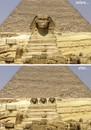 Cartoon: sphinx before and after (small) by Medi Belortaja tagged sphinx,egypt,democracy,parties