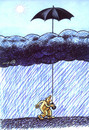 Cartoon: umbrella (small) by Medi Belortaja tagged umbrella rain clouds humor