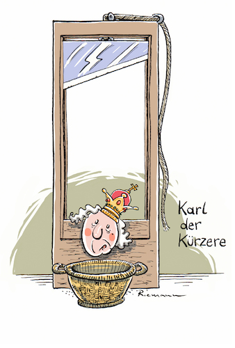 Cartoon: Kürzlich Verstorben (medium) by Riemann tagged aristokratie,guillotine,monarchen,fallbeil,wortspiel,cartoon,george,riemann,aristokratie,guillotine,monarchen,fallbeil,wortspiel,cartoon,george,riemann