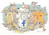Cartoon: Facebook für Hunde (small) by Riemann tagged facebook,social,media,internet,selbstdarstellung,narzissmus,hunde,hydrant,schnuppern,gesellschaft,klatsch,tratsch,wichtigtuerei,selfies,cartoon,george,riemann