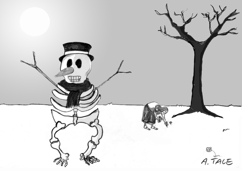 Cartoon: Milde Winter (medium) by A Tale tagged change,climate,environment,winter,umweltschutz,klimawandel