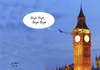 Cartoon: Bye Bye EU (small) by A Tale tagged brexit,austritt,eu,referendum,abstimmung,england,grossbritannien,ergebnis,juni,2016,gegen,europa,abschied,big,ben,london,kuckuck,bye,politik,karikatur,cartoon,illustration,tale