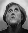 Cartoon: I m not amused (small) by A Tale tagged angela,merkel,cdu,bundeskanzlerin,portrait,porträt,caricature,karikatur