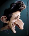 Cartoon: Adrien Brody (small) by besikdug tagged adrien,brody,besikdug,caricature,besik,dugashvili