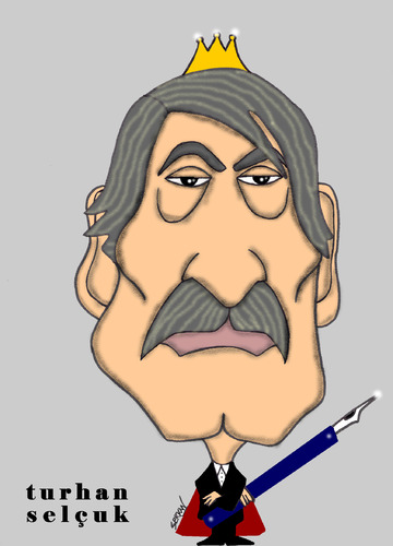 Cartoon: TURHAN SELCUK (medium) by serkan surek tagged surekcartoons