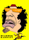 Cartoon: MUAMMER KADDAFI (small) by serkan surek tagged surekcartoons