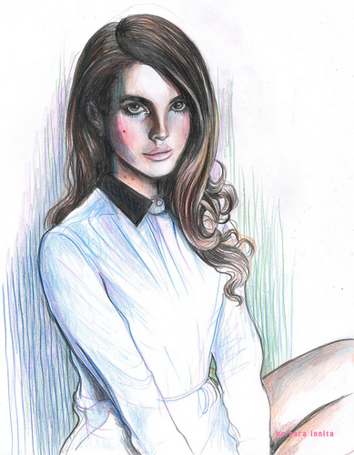Cartoon: Lana Del Rey (medium) by noparainnita tagged innita,para,no,artist,face,female,woman,singer,rey,del,lana