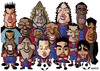 Cartoon: FC Barcelona 2007 (small) by Xavi Caricatura tagged fc,barcelona,football,soccer,messi,ronaldinho,etoo,henry,deco,rickjaard