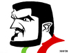 Cartoon: Gennaro Gattuso (small) by Xavi Caricatura tagged gennaro,gattuso,euro2008,football,calcio,soccer,italy