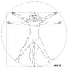 Cartoon: Vitruvian Man (small) by Xavi Caricatura tagged vitruvian,man,vitruvio,leonardo,da,vinci,drawing,cartoon,illustration,renaissance