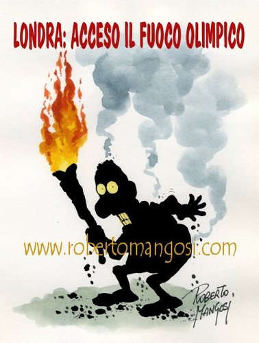 Cartoon: Olympic games fire (medium) by Roberto Mangosi tagged olympic,games,fire