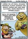 Cartoon: Swampys Florida Webcomic (small) by RobSmithJr tagged ftravel,florida,tourism,flordia,history,swampys,citrus,orange,oranges,bananas,guava,agriculture,fruit,figs,bana,humor,joke,cartoon,cartooning,illustration