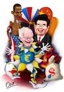 Cartoon: King Hu Jintao (small) by riva tagged hu jintao herman van rompuy barak obama euro dolar china usa eu