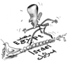 Cartoon: Obama walking the crisis (small) by Raed Al-Rawi tagged obama