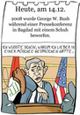 Cartoon: 14. Dezember (small) by chronicartoons tagged george,bush,schuh,irak,cartoon