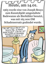 Cartoon: 14. Januar (small) by chronicartoons tagged beuys,duchamp,readymade,badewanne,museum,cartoon