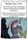 Cartoon: 17. Januar (small) by chronicartoons tagged lichtbogen,star,wars,yoda,darth,vader,luke,skywalker,laserschwert,cartoon