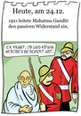 Cartoon: 24. Dezember (small) by chronicartoons tagged gandhi,gewaltloser,widerstand,könig,herodes,cartoon