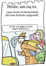Cartoon: 4. Januar (small) by chronicartoons tagged parkuhr,parkn,cartoon
