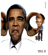 Cartoon: Obama vs Snowden (small) by zenundsenf tagged andi walter barak obama cartoon composing karikatur nsa snowden edward wikileaks zenf zensenf zenundsenf