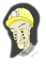Cartoon: COAL MINER (small) by huseyinalparslan tagged coal miner collier hewer