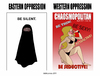 Cartoon: OPPRESSIONS (small) by ELCHICOTRISTE tagged oppression,burka