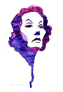 Cartoon: Dietrich (small) by Martynas Juchnevicius tagged marlene,dietrich,actress,movies,films,people,beauty,icon