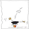 Cartoon: Die Kado Krähe (small) by KADO tagged krähe crow animal bird kado kadocartoons cartoon comic humor spass illustration dominika kalcher austria styria graz