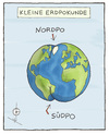 Cartoon: Kleine Erdpokunde (small) by badham tagged erde geografie natur welt world po nature satire badham