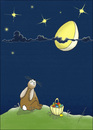 Cartoon: Moonstruck (small) by badham tagged ostern easter bunny osterhase animal animals hase badham