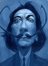 Cartoon: Mikey_Dali09_01 (small) by mikeyzart tagged caricature salvador dali acrylic painting humorous