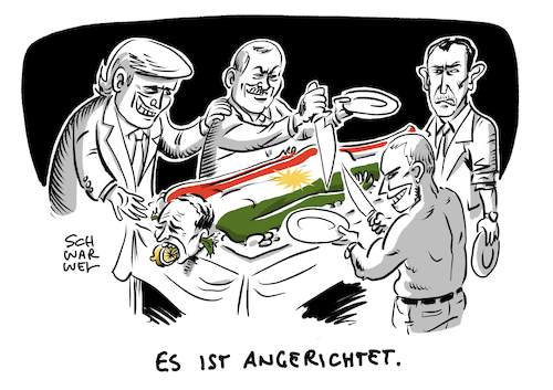 Cartoon: Kampfpause Nordsyrien Erdogan (medium) by Schwarwel tagged krieg,erdogan,türkei,syrien,nordsyrien,ankara,assad,kurden,is,islamischer,staat,putin,trump,russland,amerika,america,präsident,president,waffenruhe,säuberung,kurdenmiliz,terrormiliz,waffen,gewalt,terror,militär,militäroffensive,feuerpause,kriegsverbrechen,zivilisten,rüstungsexportstopp,waffenexport,kurdenmilizen,cartoon,karikatur,schwarwel,krieg,erdogan,türkei,syrien,nordsyrien,ankara,assad,kurden,is,islamischer,staat,putin,trump,russland,amerika,america,präsident,president,waffenruhe,säuberung,kurdenmiliz,terrormiliz,waffen,gewalt,terror,militär,militäroffensive,feuerpause,kriegsverbrechen,zivilisten,rüstungsexportstopp,waffenexport,kurdenmilizen,cartoon,karikatur,schwarwel