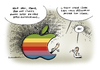 Cartoon: Apple Chef Steve Jobs Rücktritt (small) by Schwarwel tagged apple,chef,steve,jobs,tim,cook,rücktritt,itunes,iphone,ipad,karikatur,schwarwel