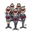 Cartoon: Chor (small) by Schwarwel tagged chor,chorleute,singen,musik,lieder,rock,pop,liederbuch,song,illustration,schwarwel