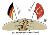 Cartoon: Nach der Armenien Resolution (small) by Schwarwel tagged armenien,resolution,deutschland,türkei,riss,berlin,ankara,merkel,erdogan,völkermord,antitürkische,stimmung,eu,europa,karikatur,schwarwel