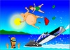 Cartoon: Jet ski (small) by undertoon tagged jet,ski,undertoon