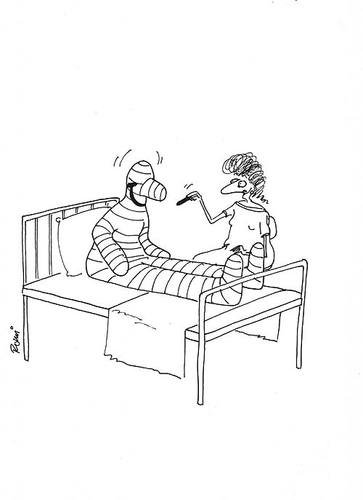 Cartoon: - (medium) by romi tagged patient,bed,happy,chalk