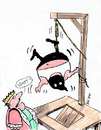 Cartoon: Hangman (small) by bob tagged könig,galgen,henker,hinrichtung,bob,hack