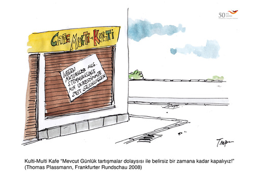 Cartoon: 50 Yil 50 Karikatür (medium) by toonpool com tagged turkey,germany,50,years,migration
