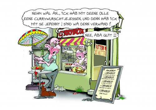 Cartoon: CURRY WURST CONTEST 045 (medium) by toonpool com tagged currywurst,contest