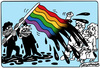 Cartoon: Gay flag (small) by Igor Kolgarev tagged gays,flag,homosexual,marriage