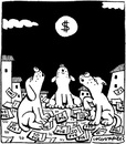Cartoon: Howling (small) by Igor Kolgarev tagged economic,crisis,dollars,moon,finance,business