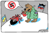Cartoon: No Ukrainian Nazism! (small) by Igor Kolgarev tagged ukraine,donetsk,lugansk,separatists,russian,forces,junta,nazis,fascists,bandera,right,sector,war
