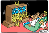 Cartoon: Ukrainian TV (small) by Igor Kolgarev tagged not,testified,duck,furphy,canard,ukraine,press,tv,media,kiev