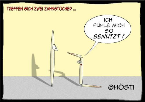 Cartoon: Höstis Zahnstocher (medium) by Hösti tagged hösti,cartoons,hoesti,stephan,höstermann,zahnstocher,dies,und,das