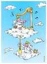 Cartoon: Angels! (small) by Ali Miraee tagged angel,music,cartoon,ali,miraee,miraie,mirayi